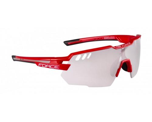 Brýle FORCE AMOLEDO, červ.-šedé, fotochromatické skla