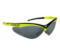 Brýle FORCE AIR fluo-černé, černá laser skla
