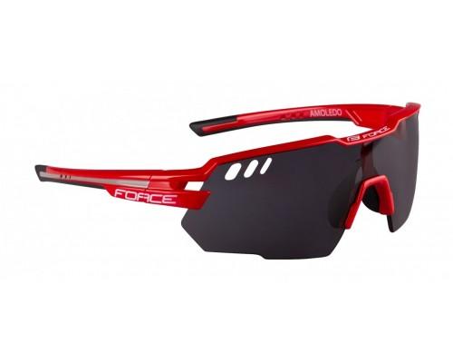 Brýle FORCE AMOLEDO, červeno-šedé, černé skla