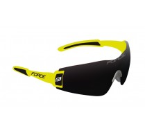 Brýle FORCE FLASH, fluo-černé, černé skla