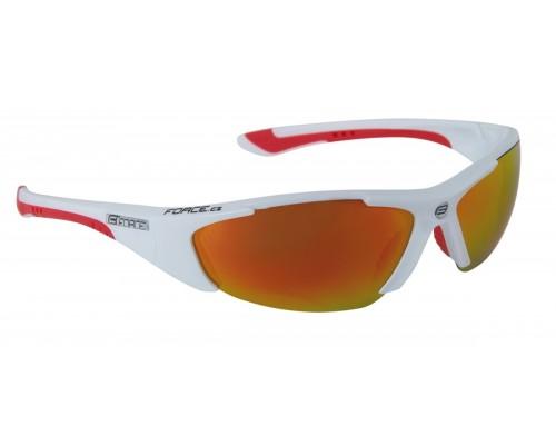 Brýle FORCE LADY bílé, červená skla