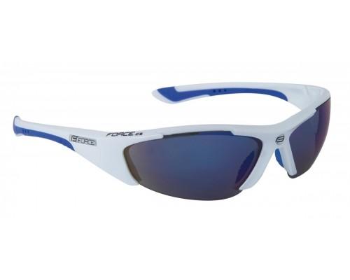 Brýle FORCE LADY bílé, modrá laser skla