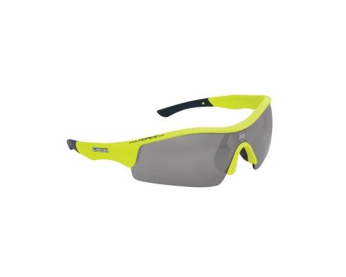 Brýle FORCE RACE fluo, černá laser skla