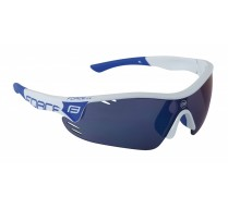 Brýle FORCE RACE PRO bílo-modré, modrá laser skla