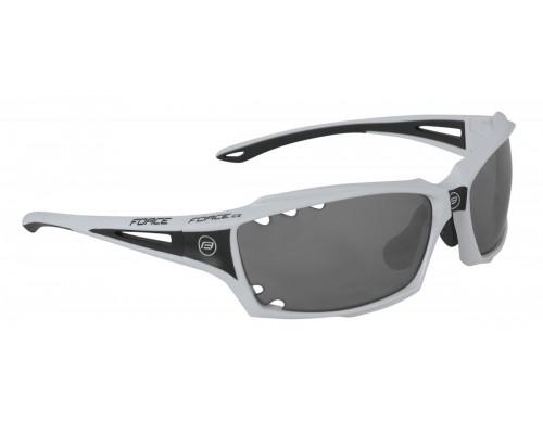Brýle FORCE VISION bílé, černá skla