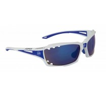 Brýle FORCE VISION bílé, modrá laser skla