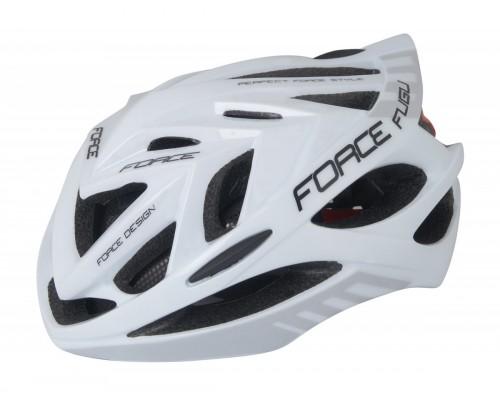 Přilba FORCE FUGU, bílo-černá L - XL