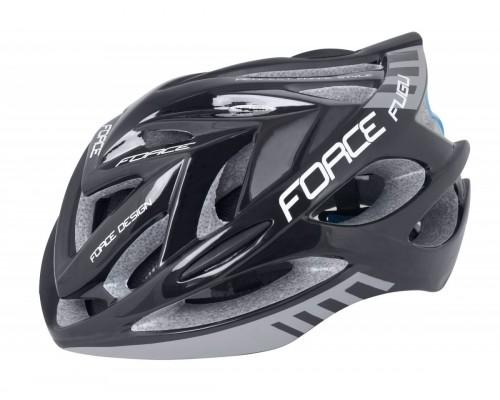 Přilba FORCE FUGU, černo-šedá L - XL
