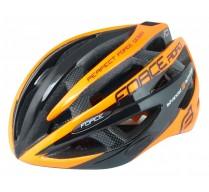 Přilba FORCE ROAD, černo-oranžová L - XL