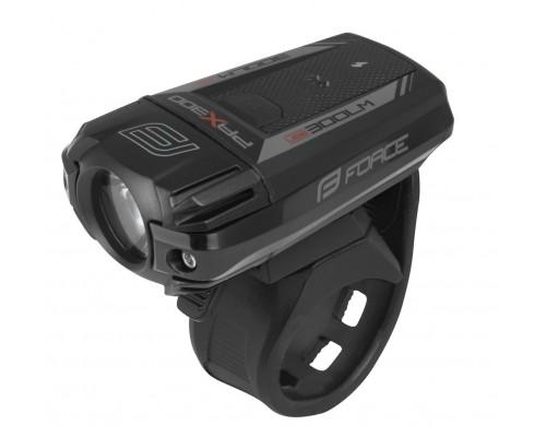 Světlo přední FORCE PAX-300 1dioda XP-G2, černé